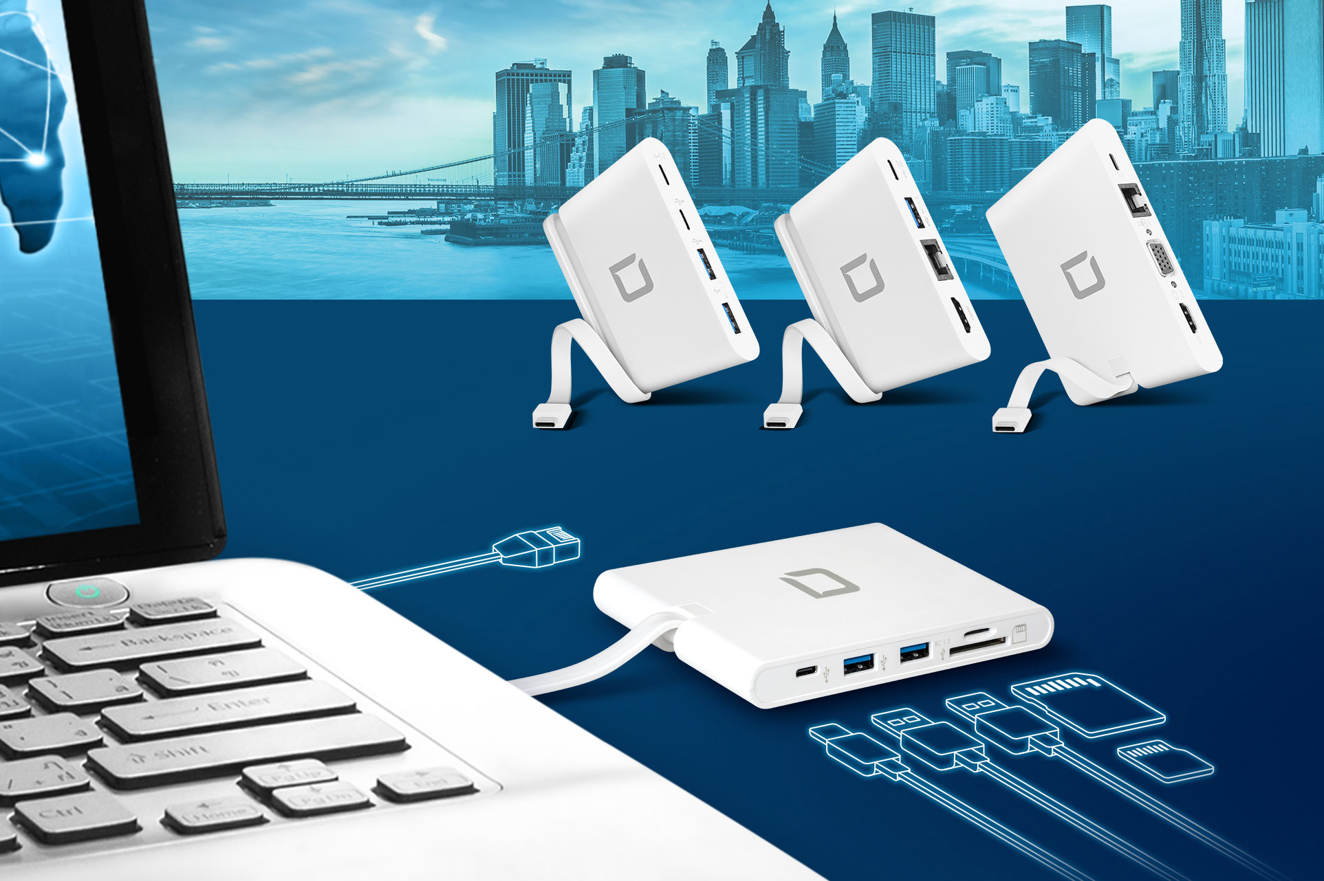 Versatile connectivity with a single USB-C port