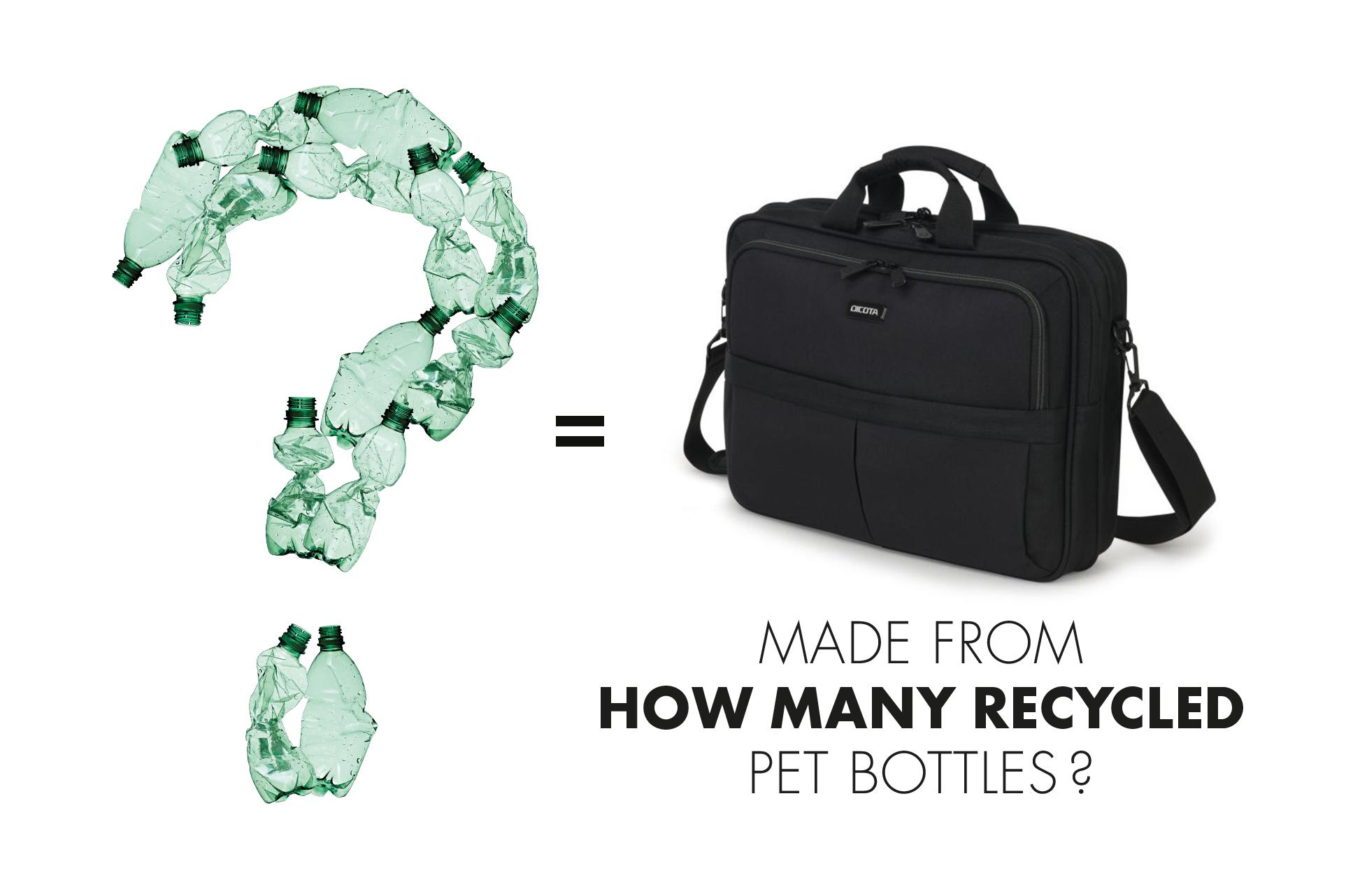 Wie viele PET Flaschen werden für eine Tasche recycelt?