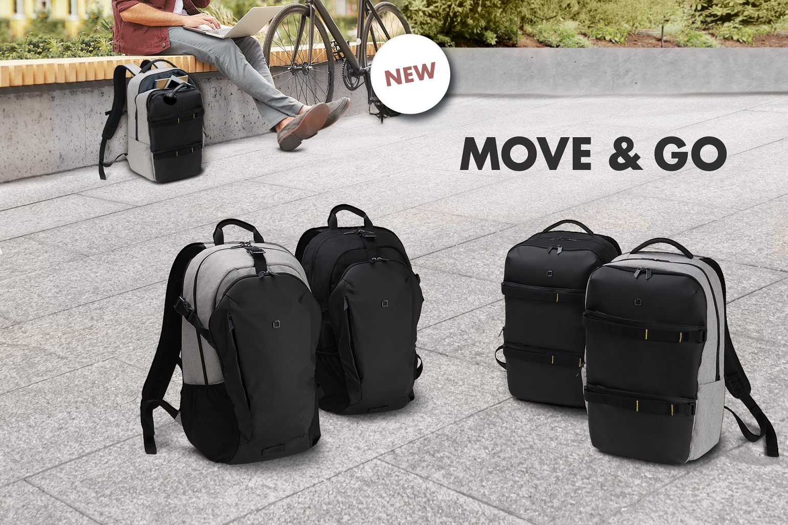 Backpack GO and MOVE - sporty, functional and stylish