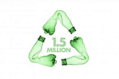 How many PET Bottles have been recycled by DICOTA until today?