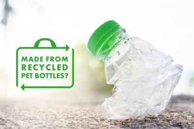 So stellen Sie sicher, dass Ihre Tasche aus recyceltem PET besteht