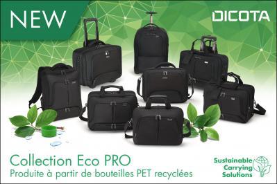 Désormais fabriqués à partir de bouteilles en PET recyclées - collection Eco PRO